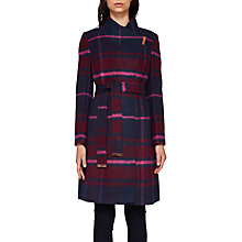 Buy Ted Baker Fredye Check Long Wrap Coat Online at johnlewis.com