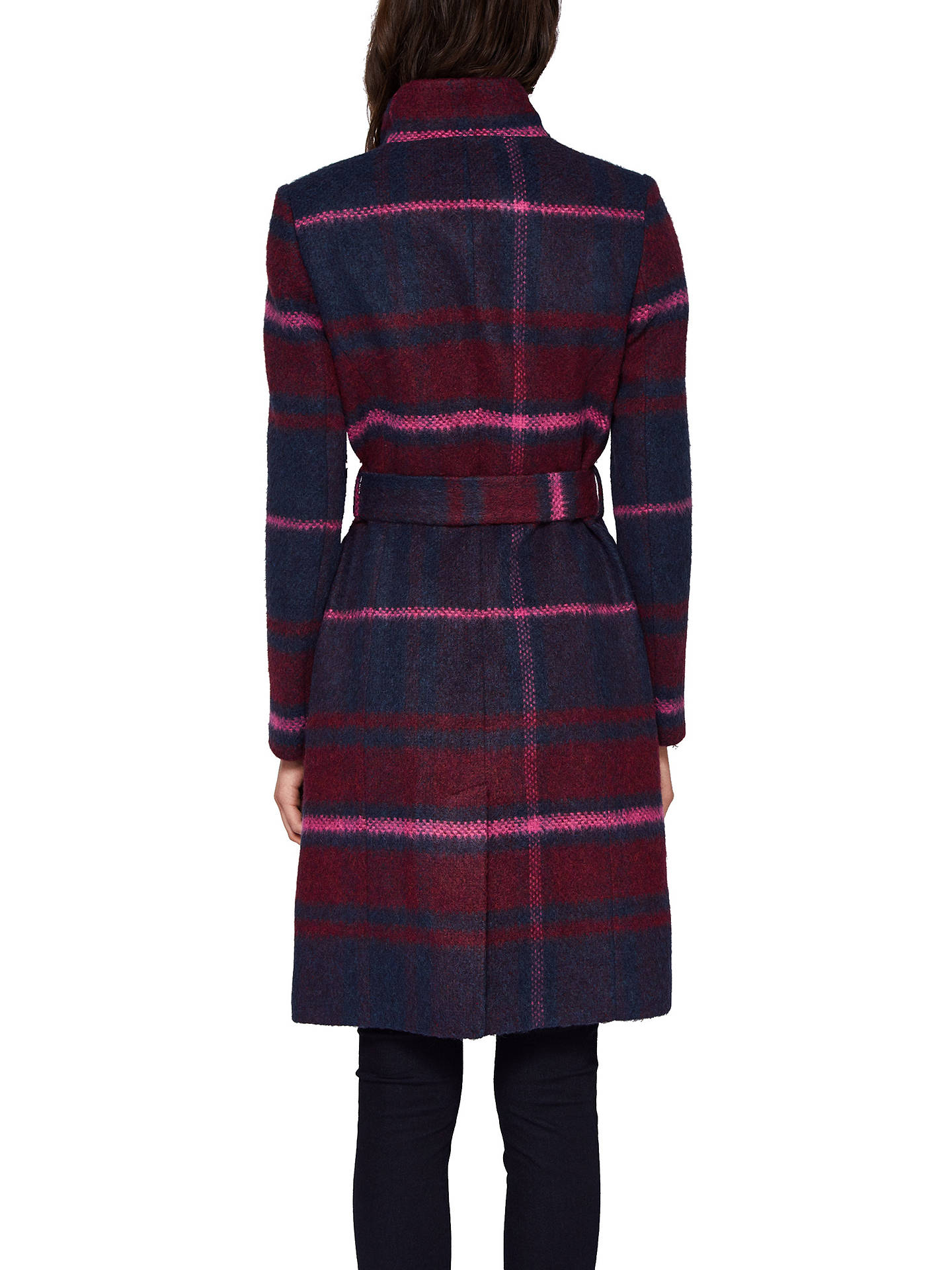0ea63951b Ted Baker Fredye Check Long Wrap Coat at John Lewis   Partners