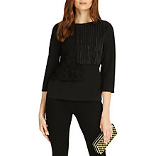 Buy Phase Eight Lola Layered Lace Top, Black Online at johnlewis.com