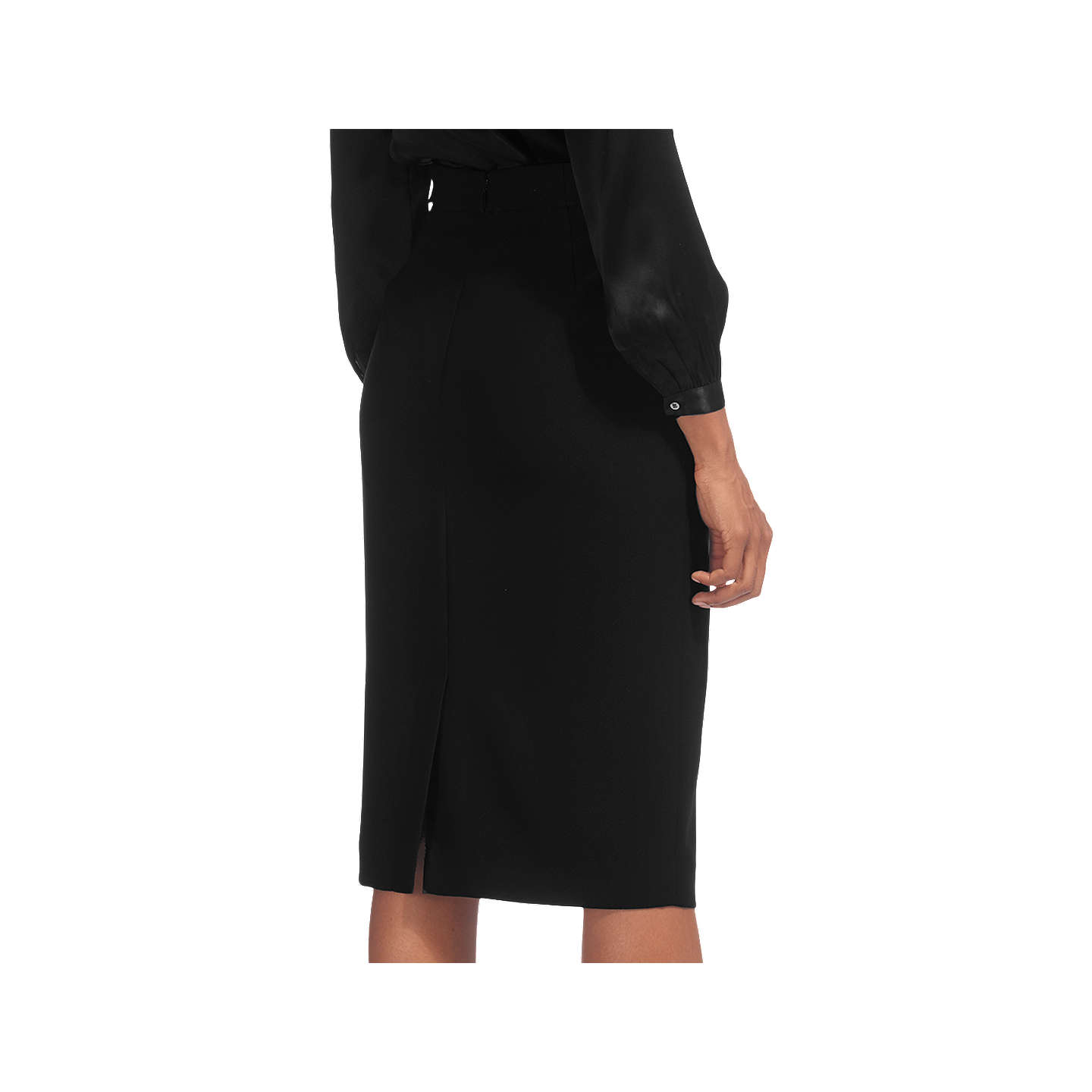 BuyWhistles Crepe Pencil Skirt, Black, 6 Online at johnlewis.com