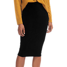 Buy Whistles Velvet Jersey Tube Skirt, Black Online at johnlewis.com