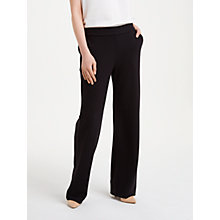 Buy Winser London Crepe Jersey Trousers, Black Online at johnlewis.com