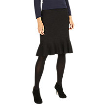 Buy Phase Eight Peyton Peplum Skirt, Dark Charcoal Marl Online at johnlewis.com