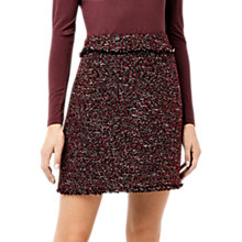 Buy Warehouse Victoria Tweed Skirt, Bright Red Online at johnlewis.com