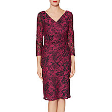 Buy Gina Bacconi Keira Lace Dress, Cerise Online at johnlewis.com
