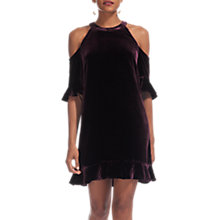 Buy Whistles Velvet Cold Shoulder Dress, Fig Online at johnlewis.com