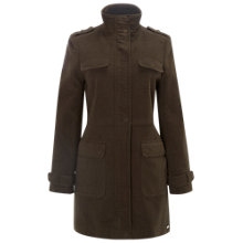 Buy White Stuff Pitsford Moleskin Coat, Khaki Online at johnlewis.com