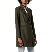 Buy Warehouse Clean Crombie Double Breasted Coat, Khaki Online at johnlewis.com
