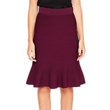 Buy Ted Baker Deyana Frill Hem Knitted Skirt, Maroon Online at johnlewis.com