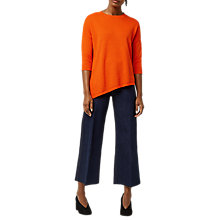 Buy Warehouse Stitchy Displaced Hem Jumper, Orange Online at johnlewis.com