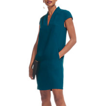 Buy Whistles Paige V-Neck Crepe Dress, Mineral Green Online at johnlewis.com