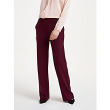 Buy Winser London Crepe Jersey Trousers, Rich Berry Online at johnlewis.com
