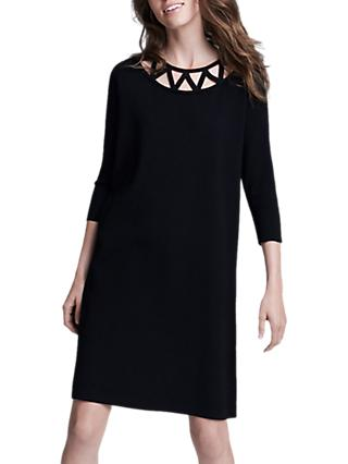 Winser London Lattice Shift Dress, Black