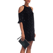 Buy Whistles Velvet Constellation Dress, Black/White Online at johnlewis.com