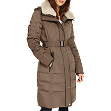 Buy Phase Eight Deasia Long Diamond Puffer Coat, Mink Online at johnlewis.com