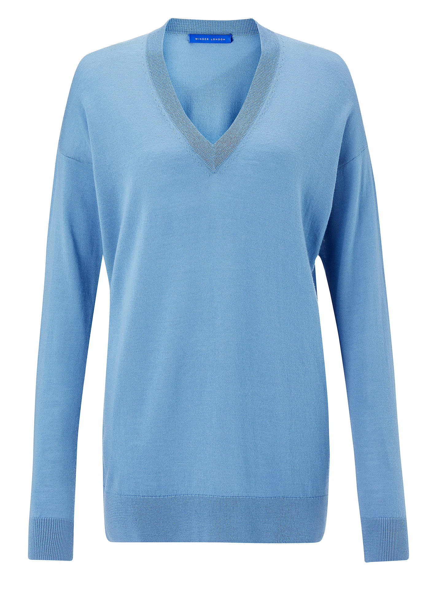 Buy Winser London Boyfriend Jumper, Duck Egg, L Online at johnlewis.com