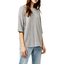 Buy Warehouse Rib Panel Boxy T-Shirt Online at johnlewis.com