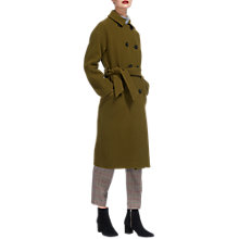 Buy Whistles Alicia Belted Double Breasted Coat, Olive Online at johnlewis.com