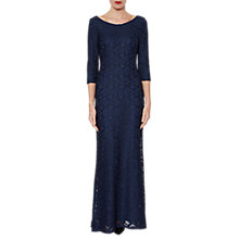 Buy Gina Bacconi Jill Lace Maxi Dress, Navy Online at johnlewis.com