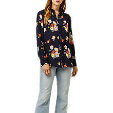 Buy Warehouse Victoria Floral Shirt, Navy Online at johnlewis.com