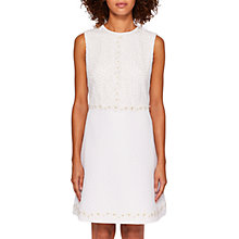 Buy Ted Baker Olara Daisy Shift Dress, White Online at johnlewis.com