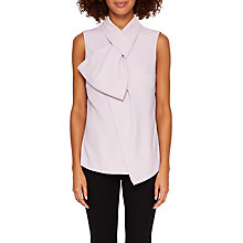 Buy Ted Baker Cydnee Twisted Bow Neck Top, Pale Purple Online at johnlewis.com