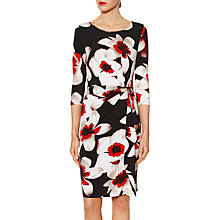 Buy Gina Bacconi Tamara Floral Print Frill Dress, Red Online at johnlewis.com