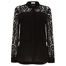 Buy Phase Eight Livia Lace Blouse, Black Online at johnlewis.com