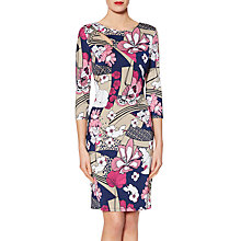 Buy Gina Bacconi Rosanna Floral Print Dress, Pink/Multi Online at johnlewis.com