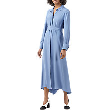 Buy Finery Wandon Maxi Wrap Shirt Dress, Cornflower Blue Online at johnlewis.com