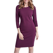 Buy Winser London Crepe Jersey Fitted Dress, Rich Berry Online at johnlewis.com
