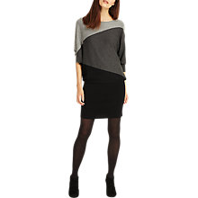 Buy Phase Eight Becca Diagonal Block Dress, Black/Grey Online at johnlewis.com