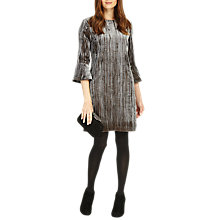 Buy Phase Eight Arielle Flute Sleeve Velvet Dress, Silver Online at johnlewis.com