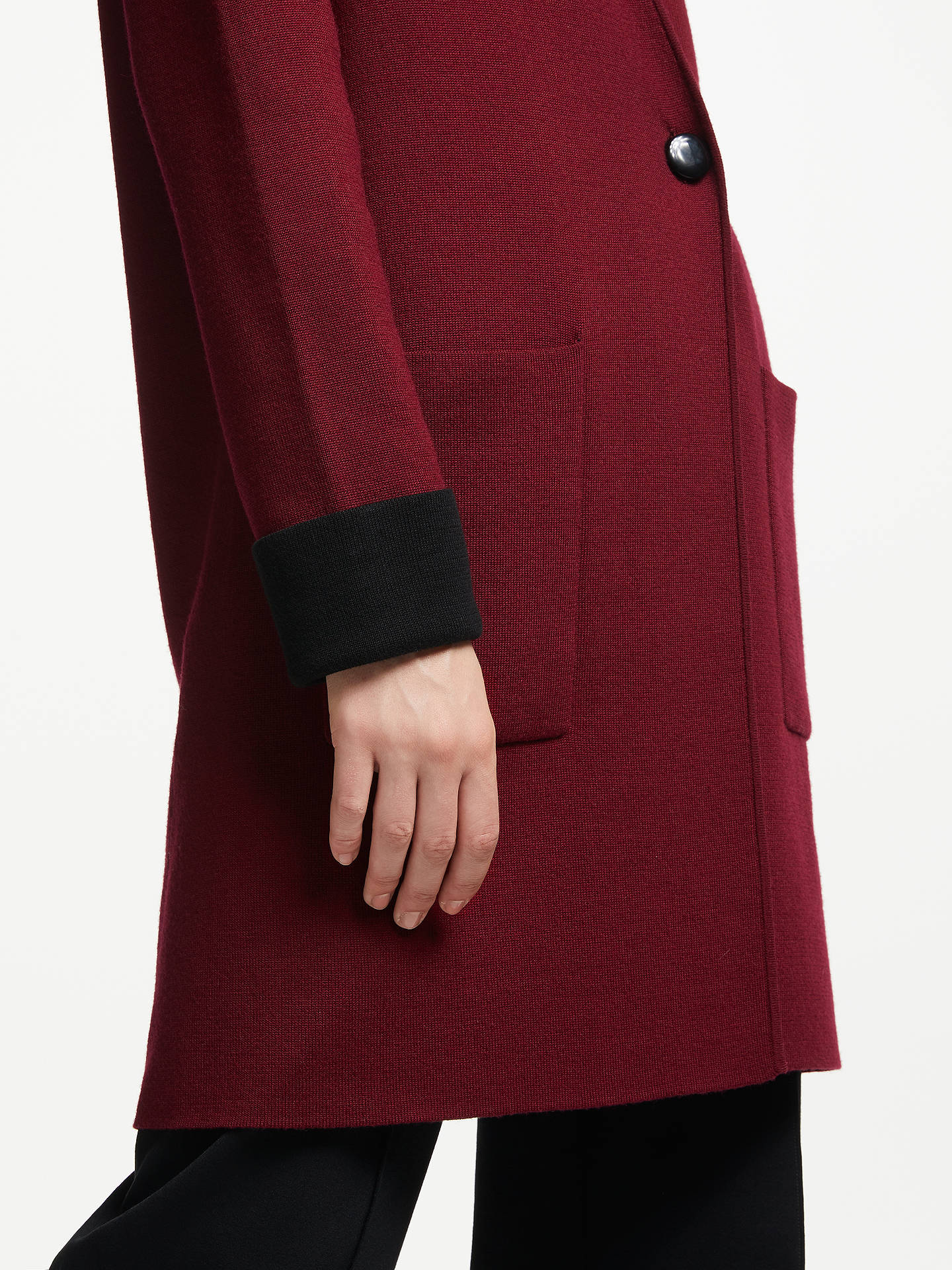 BuyWinser London Double Faced Coat, Burgundy/Black, XS Online at johnlewis.com