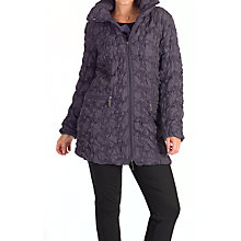 Buy Chesca Mini Bonfire Embroidered Quilted Coat, Hyacinth Online at johnlewis.com