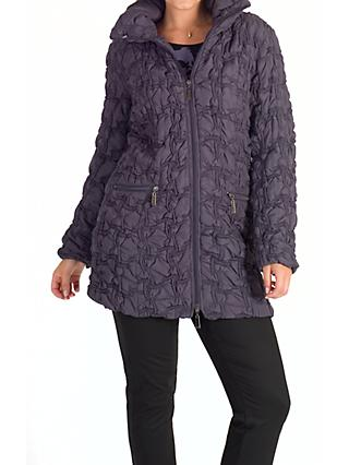 Chesca Bonfire Embroidered Quilted Coat, Hyacinth