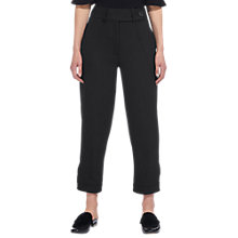 Buy Whistles Premium Tapered Leg Trousers, Black Online at johnlewis.com