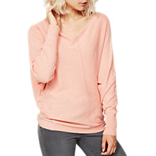 Buy Mint Velvet Marl Batwing Top, Apricot Online at johnlewis.com