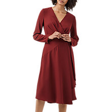 Buy Finery Triangle Asymmetric Wrap Dress, Brick Red Online at johnlewis.com