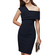 Buy Reiss Cristiana Cross Over Dress, Night Navy Online at johnlewis.com