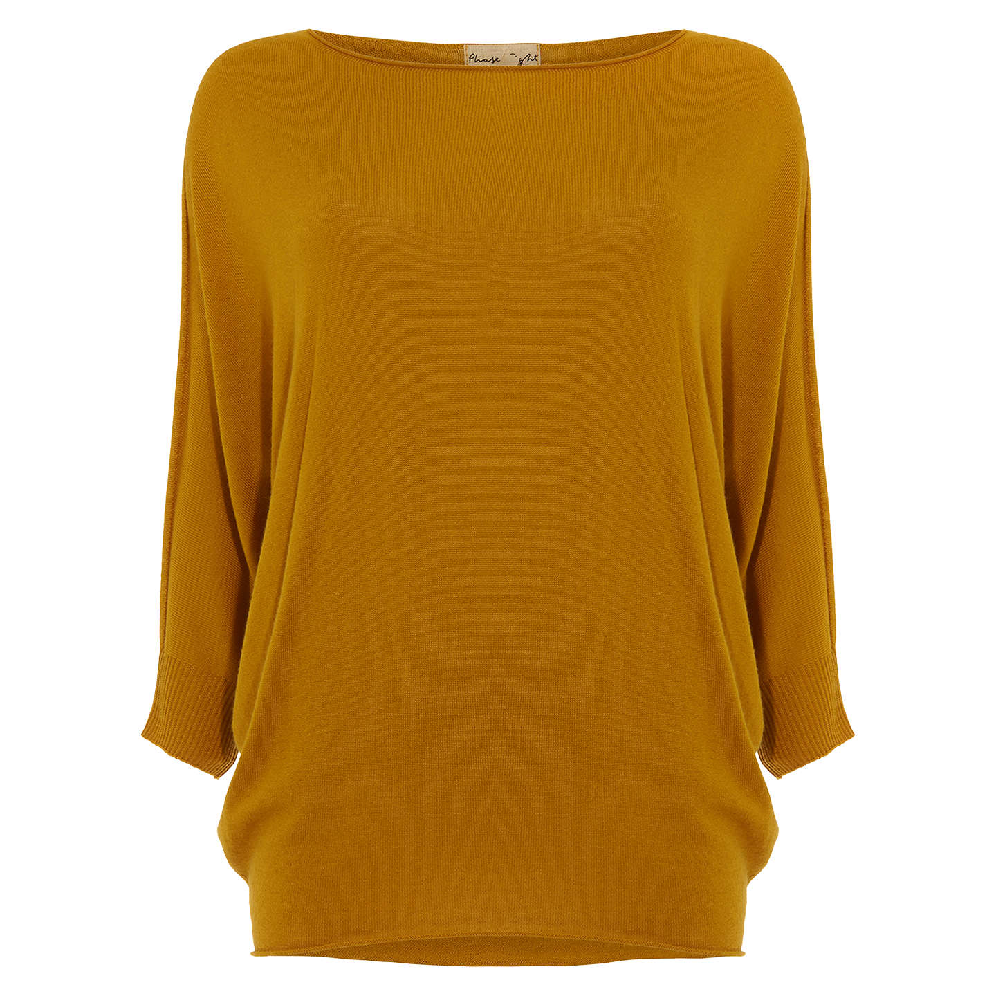 BuyPhase Eight Becca Batwing Knitted Jumper, Mustard, XS Online at johnlewis.com