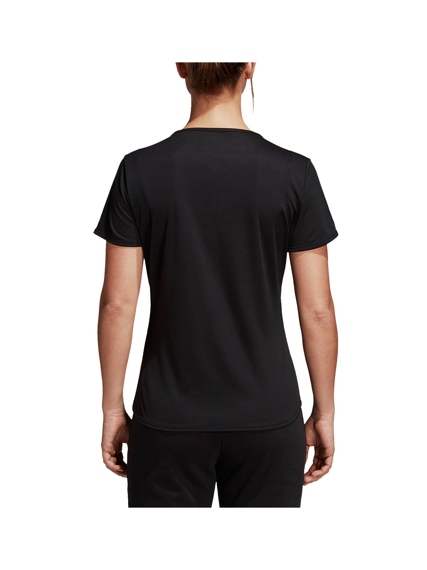 Buyadidas Response Short Sleeve Running T-Shirt, Black, XS Online at johnlewis.com