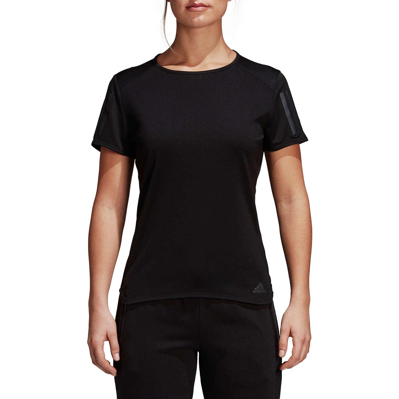 Camiseta adidas Response de correr, manga corta para correr, adidas negra negra en John Lewis 60da5a7 - grind.website