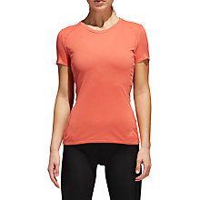Buy adidas Supernova Running T-Shirt, Trace Scarlett Online at johnlewis.com