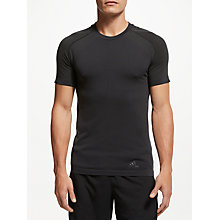 Buy Adidas Ultra Light Running Top, Black Online at johnlewis.com