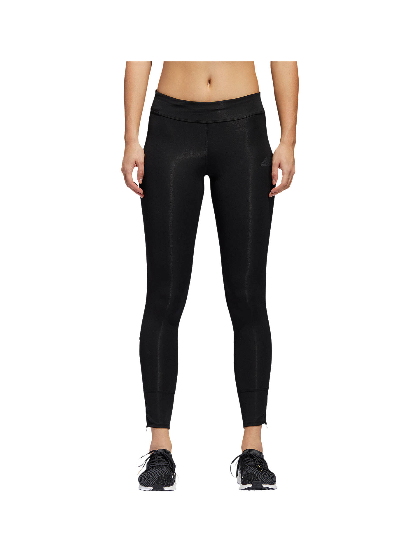410de3f264b Buy adidas Response Long Running Tights, Black, XS Online at johnlewis.com  ...