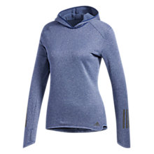 Buy adidas Climalite Pullover Hoodie, Noble Indigo Online at johnlewis.com