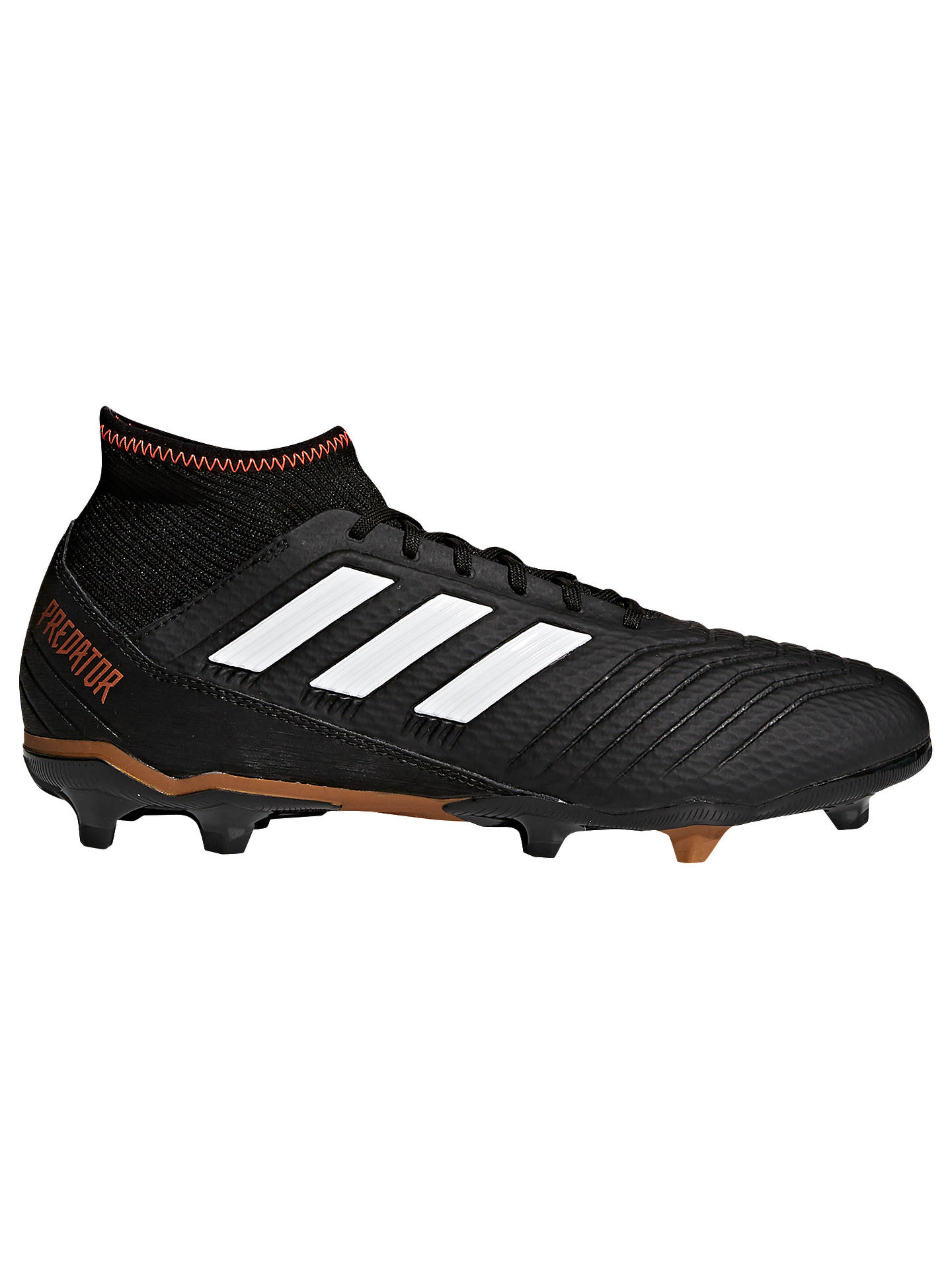 new product 23a43 52ea9 Buyadidas Predator Ace 18.3 Football Boots, Black, 7 Online at  johnlewis.com ...