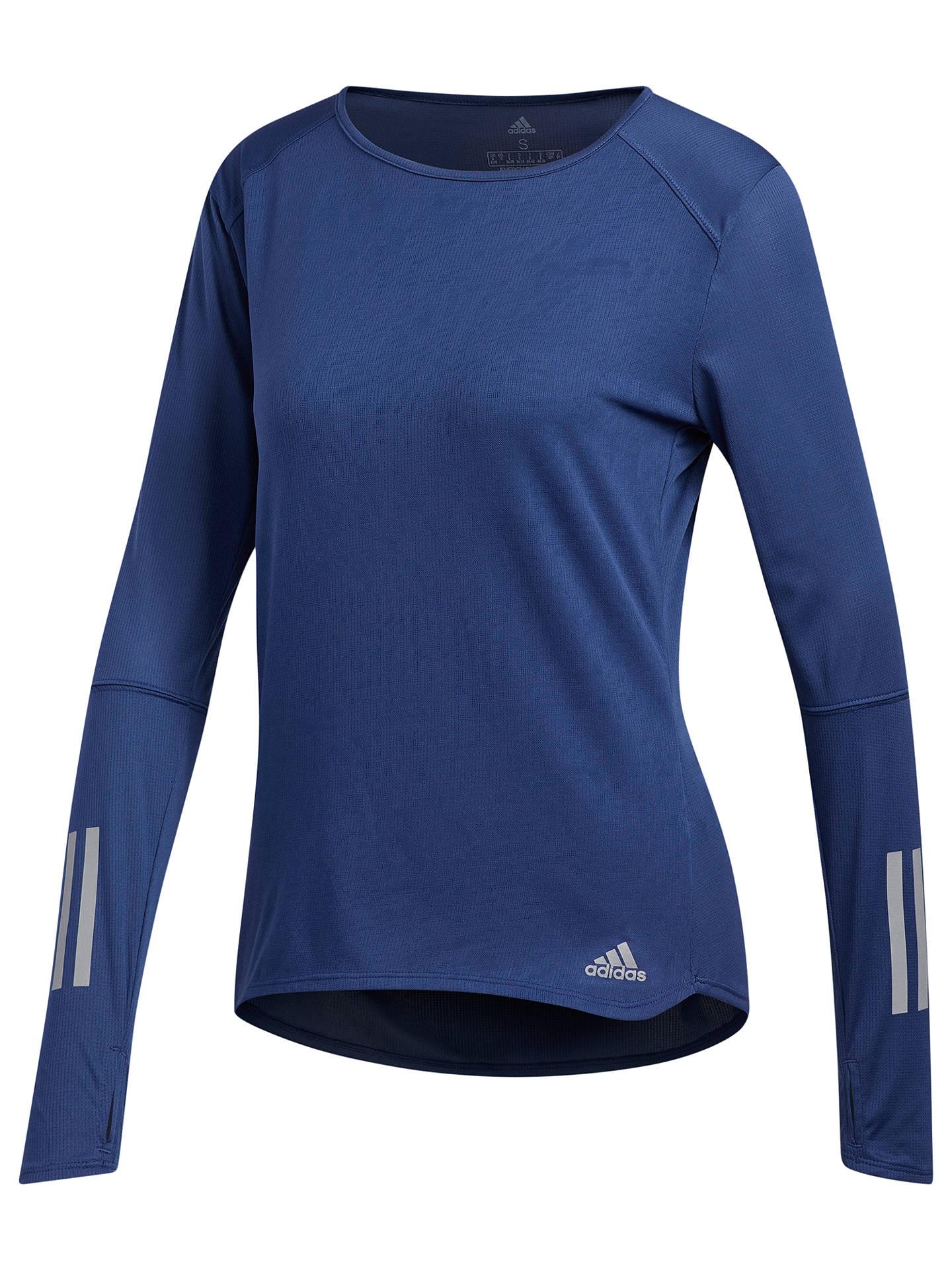 7b091bbfa2a Buy adidas Response Reflective Long Sleeve Running T-Shirt, Noble Indigo,  XS Online ...