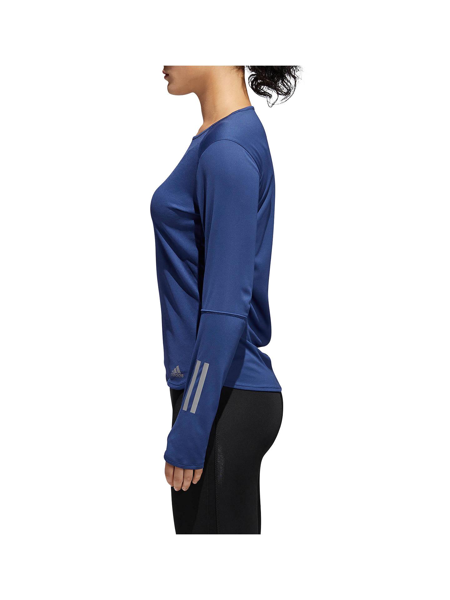 81527efab45 ... Buy adidas Response Reflective Long Sleeve Running T-Shirt, Noble Indigo,  XS Online ...